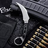 Fixed Blade Karambit Knife with Mikarta Handle - Sickle Blade - Best Fix for Survival - Grand Way 2534 MP