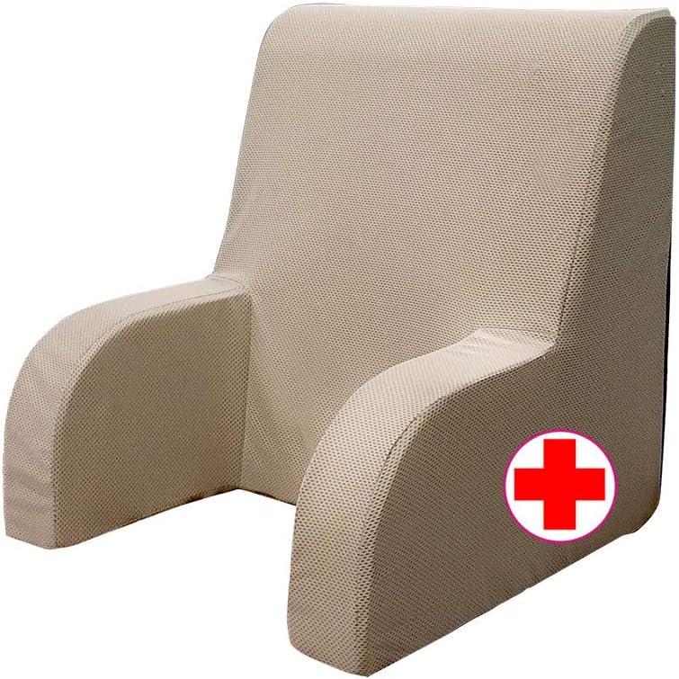 GEEMMA s.r.l. Sillón mesilla Plus, respaldo ortopédico o butaca sanitaria con tejido desenfundable y lavable. Sillón de cama para ancianos o lactancia, reposa espalda cama grande
