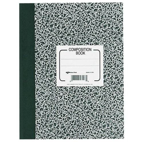 Wholesale CASE of 25 - Rediform College Rule Composition Book-Composition Book, College Rule Margin, 80 Pages, (Rediform College Rule Composition Book)