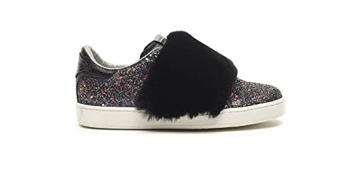 5755f0d4356 Serafini JIMMY CONNORS - DARK MULTICOLOR GLITTER & BLACK REX FUR (39 ...