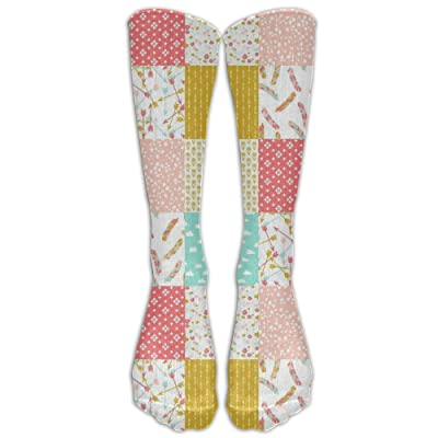3701fb7e940b Heater Quilt Squares Knee High Graduated Compression Socks For Women And  Men - Best Medical Nursing