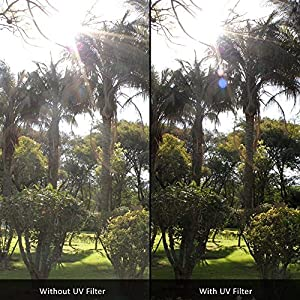 67mm Digital Tulip Flower Lens Hood and 67mm UV Filter for Nikon CoolPix P900 Digital Camera