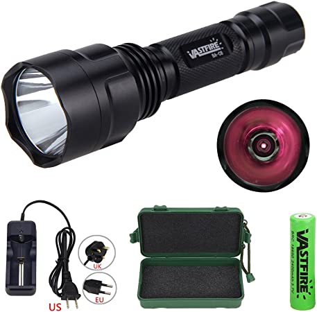 Vastfire Charge All-in-One Kit C8 850NM LED Infrared Torch Recharge Battery Outdoor IR Flashlight Compact Plane Mirror Infrared Illuminator