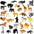 Animals Figure,54 Piece Mini Jungle Animals Toys Set,Zoo World Realistic Wild Vinyl Pastic Animal Learning Resource Party Favors Toys For Boys Kids Toddlers Forest Small Farm Animals Toys Playset from Zoo World