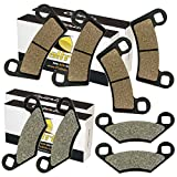 CALTRIC FRONT and REAR BRAKE PADS FIT POLARIS RZR 800 EFI 2008-2014