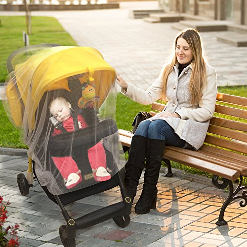 Crocnfrog Mosquito, insect Net, Netting for Strollers, Carriers, Cradles, Car Seats. Designed For Cribs, Bassinets, Most PacknPlays & Playpens. Made of White Durable Insect Netting