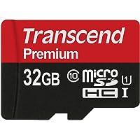 Transcend Premium microSDHC 32GB Class 10 UHS-I Speicherkarte mit SD-Adapter