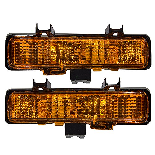 Driver and Passenger Park Signal Front Marker Lights Lamps Lenses Replacement for Chevrolet GMC Oldsmobile SUV Pickup Truck 5976643 5976644