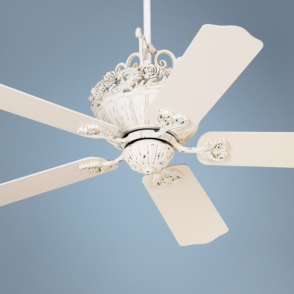 Amazon 52 casa chic rubbed white ceiling fan home improvement aloadofball Choice Image