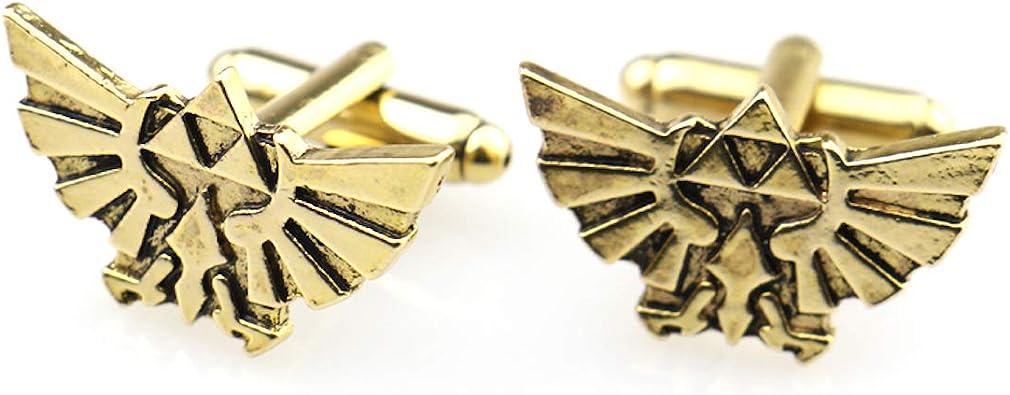 Gemelos, diseño de The Legend of Zelda Hylian Shield para hombre disfraz accesorios de cosplay: Amazon.es: Joyería