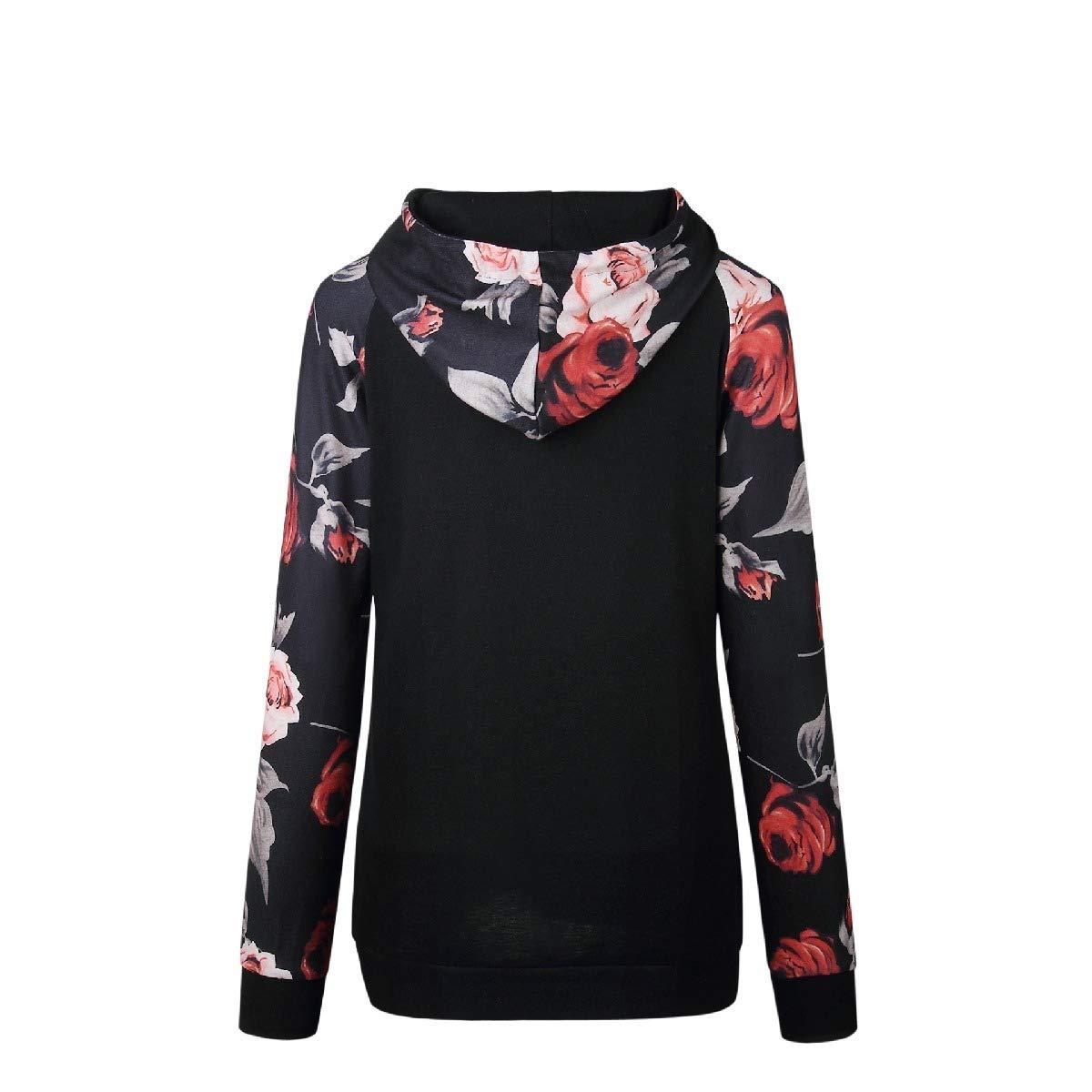 Losait Womens Lightweight Raglan with Kanga Pocket Pullover Hoodies Sweater