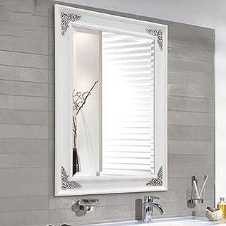 LEI ZE JUN UK Mirror- Espejo de baño Europeo Espejo de baño de Agua antiniebla Espejo de baño de Cristal Cuadrado Hotel Espejos de Pared (Tamaño : S 45cm*60cm)