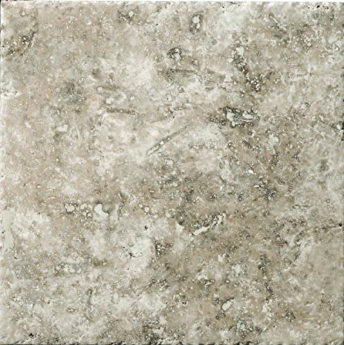 "Emser Tile ""Trav Chiseled"" Travertine Tile, 16"" x 16"", Ph..."