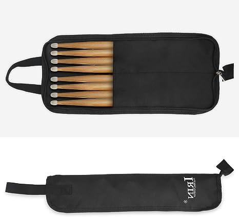 Dilwe Estuche de Baquetas, Oxford Tela Resistente al Agua Percussion Drum Stick Mallet Almacenamiento Bolsa Case Holder: Amazon.es: Deportes y aire libre