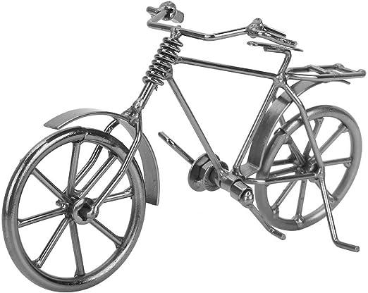 FTVOGUE Vintage Mini Bicicleta Jinete Modelo Dedo Bicicleta de Juguete Metal Bicicleta Bicicleta Decoración de Escritorio En Casa Adornos Regalos Souvenir: Amazon.es: Hogar