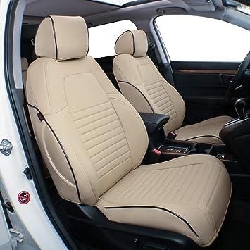 Leatherette Black//Gray EKR Custom Fit Full Set Car Seat Covers for Select Honda CRV 2017 2018 2019 2020