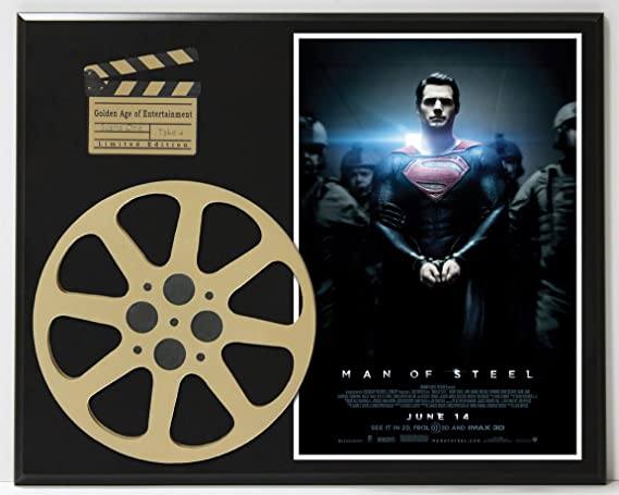MAN OF STEEL LIMITED EDITION MOVIE REEL DISPLAY at Amazon's