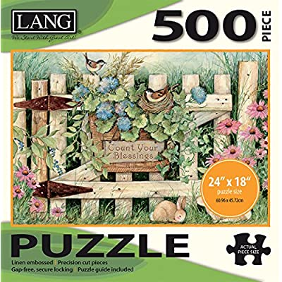 Jigsaw Puzzle 500 Pieces 24x18 Garden Gate