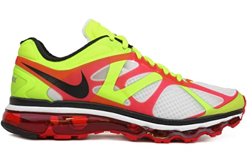 Nike Women's Air Max 2012 White/Black-Volt-University Red 487982-