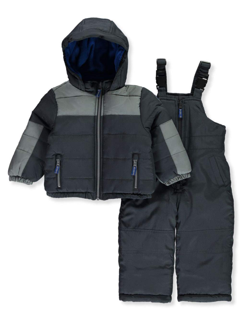 Osh Kosh Baby Boys Ski Jacket and Snowbib Snowsuit Set, Wharf Grey/Bumpercar, 12Mo by OshKosh B'Gosh