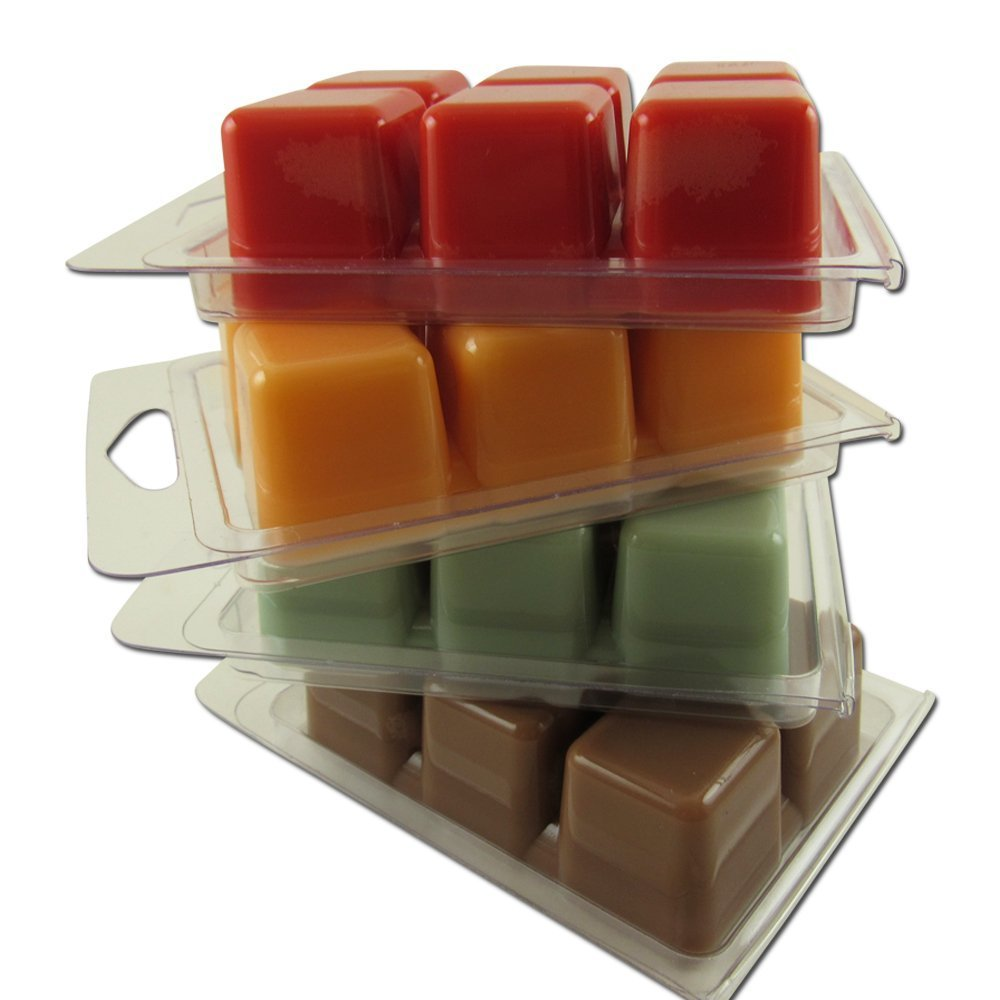 Bettli Clamshell Molds Wax Melt Mold Clear and Packaging 6-Cavity for Candle and Soap Making (100 Square Mold) by Bettli (Image #3)
