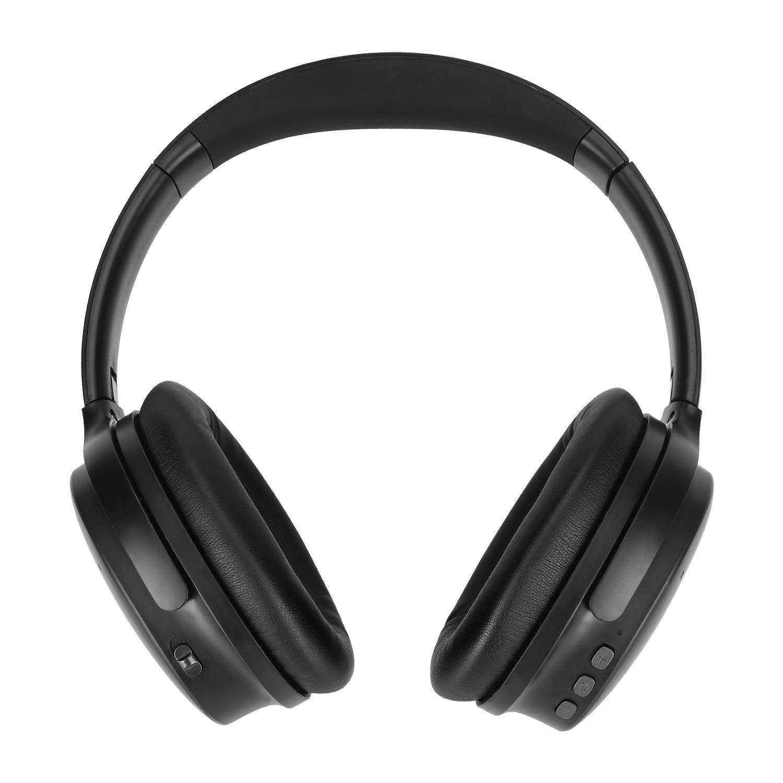 Noise Cancelling Headphones Bluetooth Headset, ANC Over Ear Wireless Bluetooth Headphones With Mic, Dual 40 mm Drivers, HIFI Deep Bass Foldable Bluetooth Headphones With15Hrs Playtime 3.5mm Audio Jack