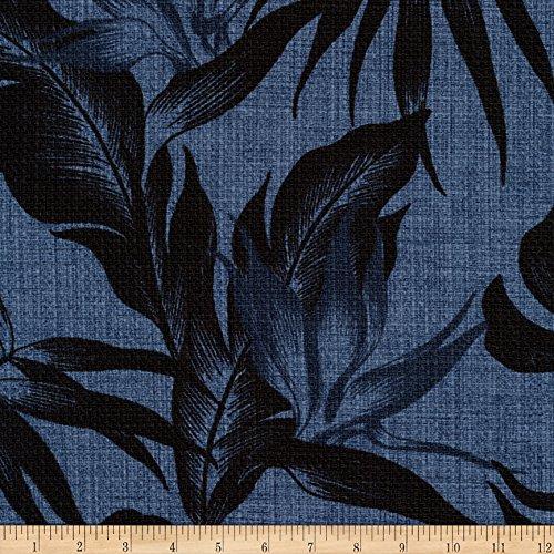 Robert Kaufman Kaufman Sevenberry Island Pardise Barkcloth Denim Fabric By The Yard - Barkcloth Fabric