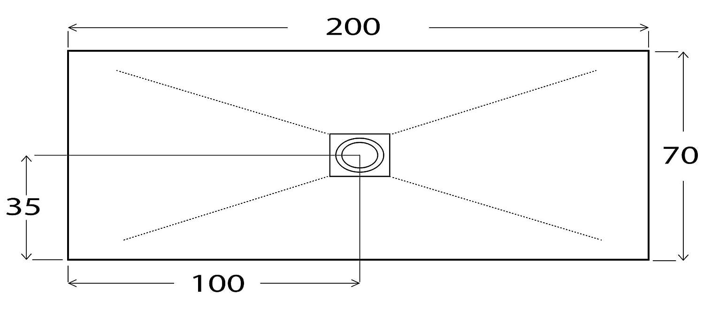 Piatto Doccia in Pietra 70x120 cm Bonussi Ardesia Stone Central Tortora