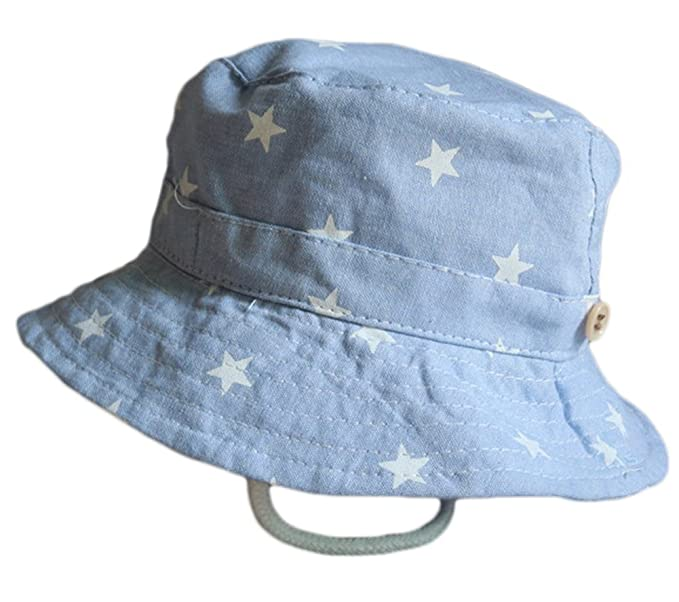 647f01d0aa11c Leisial Sombrero Pescador para Bebé Niños Algodón de Protectora del Sol  Gorro de Alas Anchas Proteger Sombrero de Vaquero Venaro  Amazon.es  Ropa y  ...