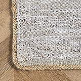 nuLOOM Koda Solid Leather Flatweave Area Rug, 8' x