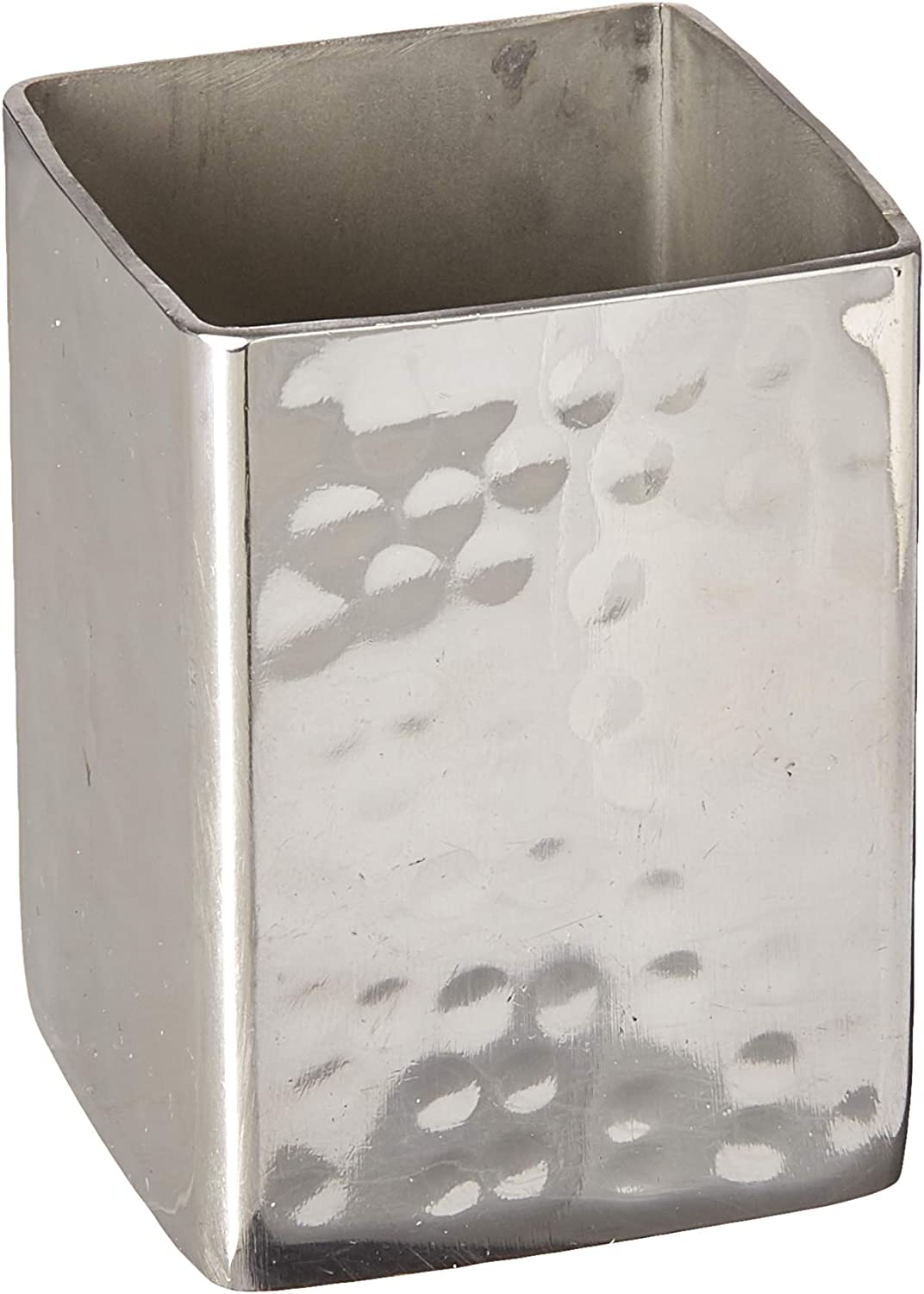 American Metalcraft HMSPT5 American Metalcraft HMSPT5 Sugar Packet//Cube Holder 2 Diameter Hammered Square 2-3//4 Height,