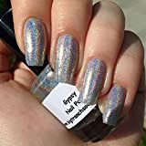 Holographic Silver Nail Polish Top Coat - Nail Lacquer Top Coat - FREE SHIPPING - ''Gypsy'' - Holographic - 0.5 oz Full Sized Bottle