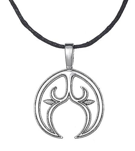 Dawapara pagan Lunula Crescent Moon Pendant Slavic Female Fertility Symbol  Necklace Jewelry for Women