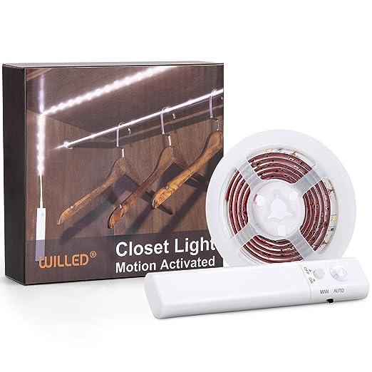 Amazon.com: Sensor de movimiento luz de armario, activado ...