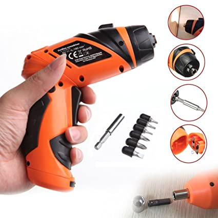 Amazon.com: Mimgo Store 6V Electric Screwdriver Drill Bits Battery ...