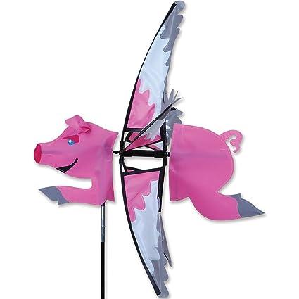 Amazon.com: 23 en. Spinner de cerdo volador: Jardín y Exteriores