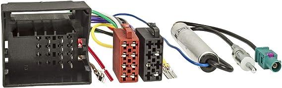 Sound-way Cable Connector ISO de audio con Adaptador de Antena Amplificado Fakra compatible con SEAT Ibiza, Leon, Altea