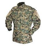 Tru-Spec TAC T.R.U.Shirts 50/50 Nylon/Cotton Rip-Stop, Digital Woodland, Small Long 1389023