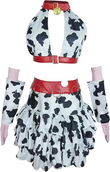 Amazon.com: Xiao Wu Idol Oikawa Shizuku leche vaca vestido ...