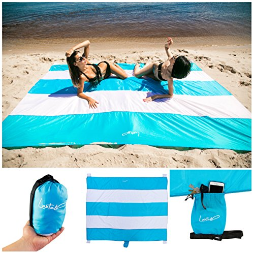 Family Beach Blanket: Lahtak Large Beach Blanket Sand-Proof
