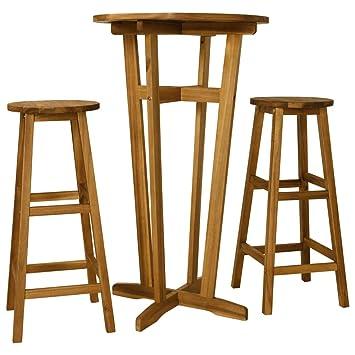 Festnight Conjunto de Muebles de Bar Conjunto de Mesa y ...