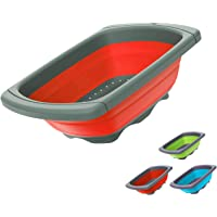 Collapsible Colander - Over the Sink teal colander - Kitchen Strainer and Colander with Extendable Handles | Veggies…