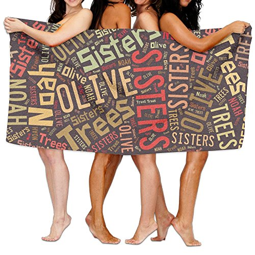 タブレット文言見る人ビーチバスタオル バスタオル 姉妹はノアのオリーブの木 ビーチタオル 海水浴 旅行用タオル 多用途 おしゃれ White