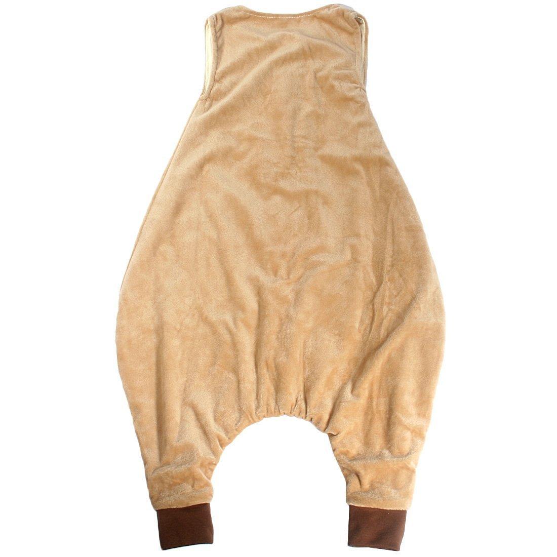 ZEEUAPI - Saco de dormir de franela para bebés niños infantíl Ropa para dormir (S (1-3 años), Caqui - búho): Amazon.es: Hogar