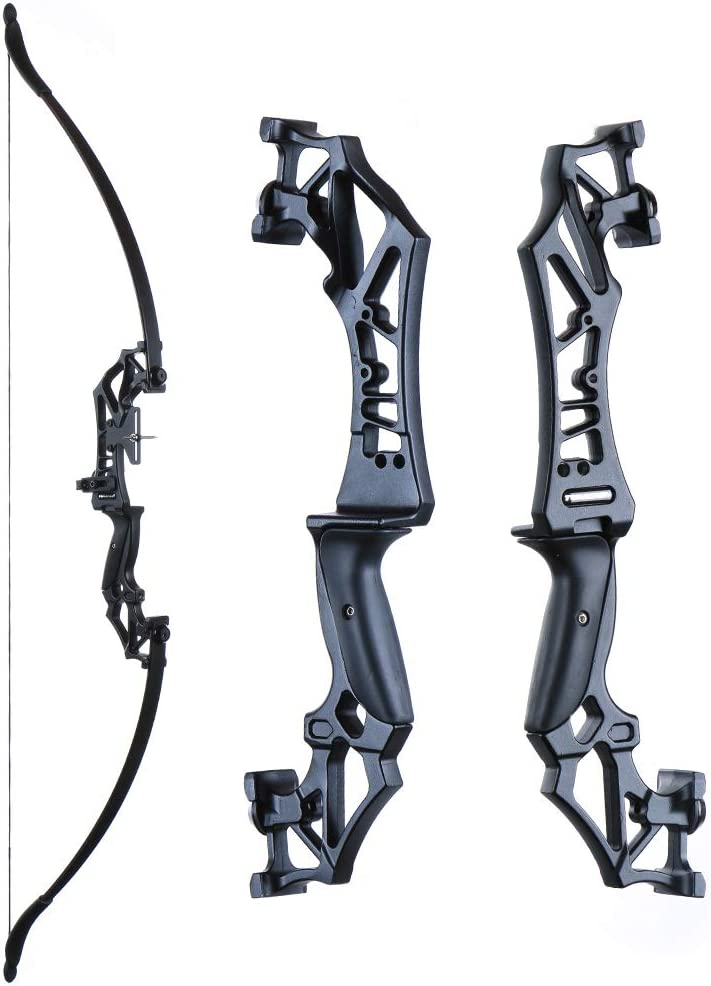ALLOY CARBON FINISHED HIGH POWERED 40lb RECURVE Takedown BOW has alloy risor