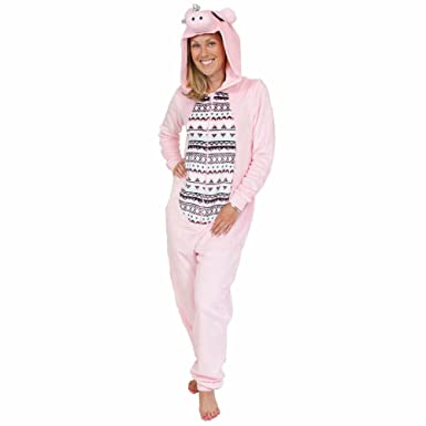 Secret Treasures Womens Animal Character Sleepwear 1-Piece Costume Union Suit (Large, ...