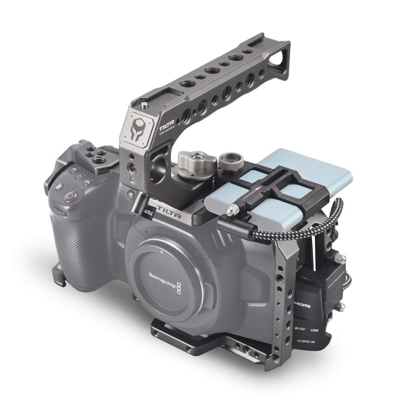 (Tilta Gray) TILTA TA-T01-B-G BMPCC 4K Cage Blackmagic Pocket Cinema Camera 4K Rig (Basic Kit) by Tilta