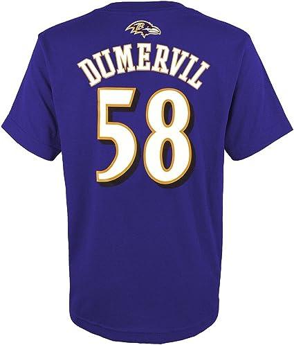 Outerstuff Elvis Dumervil NFL Baltimore Ravens Mainliner Jersey T-Shirt Youth (S-XL)