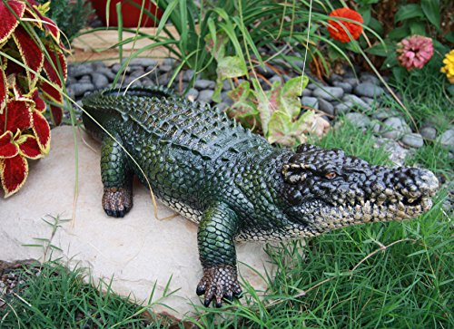 Atlantic Collectibles Realistic Guest Shock Greeter Alligator Crocodile 21″L Garden Statue Review