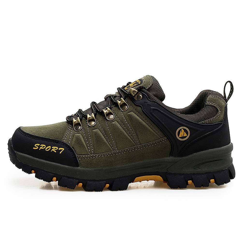 YAN Männer Schuhe Mesh Outdoor Wanderschuhe Anti-Punktion Wanderschuhe Schnürung Gummisohle Rutschfeste Athletische Laufschuhe (Farbe : Ein, Größe : 44)